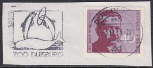 Germany #1124 F-VF Used on piece with Dolphins cancellation