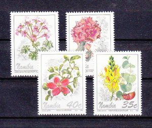 Namibia, Scott cat. 762-765. Local Flowers issue. ^