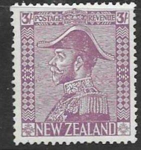 NEW ZEALAND SG470 1927 3/= PALE MAUVE  MTD MINT
