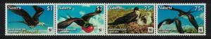 Nauru WWF Greater Frigate Bird Strip of 4v SG#681-684 MI#690-693 SC#589-592