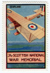 (I.B) Cinderella Collection : The Scottish War Memorial (Seaplane)