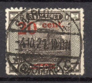Saarland 1921 Early Issue Fine Used 20c. Surcharged NW-10375