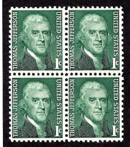 1278 Mint,OG,NH... Block of 4... SCV $1.00