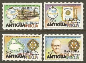 Barbuda #456-9 NH Rotary Int'l Anniv. Ovpt. Barbuda