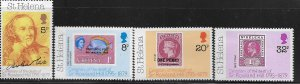 St. Helena MNH 528-31 Stamps On Stamps & Rowland Hill