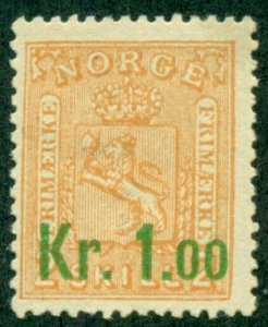NORWAY #59, Mint Hinged, Scott $42.50