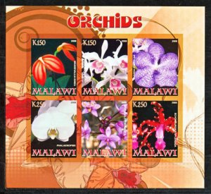 Malawi 2008 M/S Orchids Flower Plant Nature Flora Flowers Stamps MNH imperf RARE