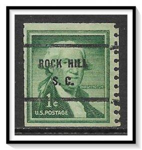 US Precancel #1054-61 Rock Hill SC Coil Used