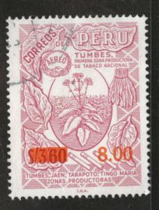 Peru  Scott C448 Used 1976 overprint CTO similar cancels