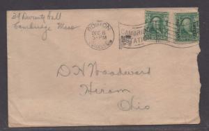 **US 20th Century Cover, SC# 300 + CZ#4, Combo Cover, Boston, MA 12/6/1904