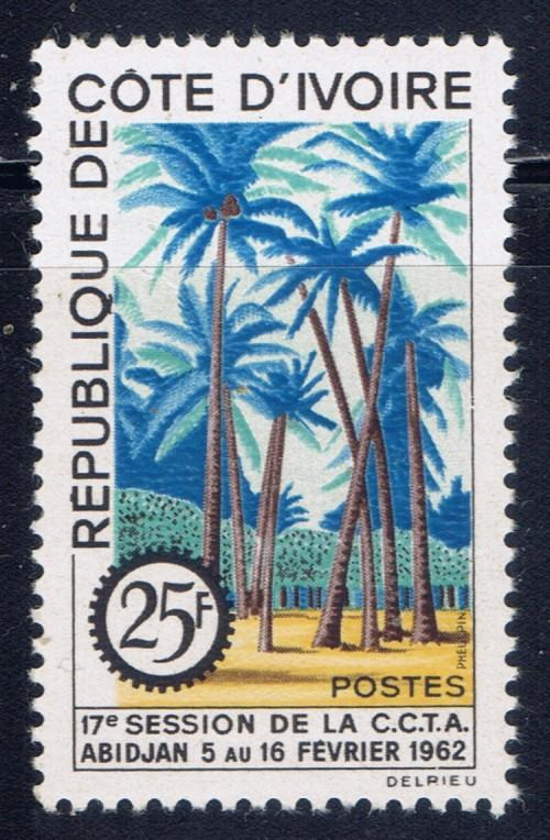 Ivory Coast 196 NH 1962 Palm Trees