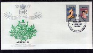 Australia 659-660 Queen Elizabeth II Silver Jubilee U/A FDC