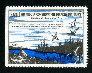 US Duck Minnesota Stamps # A1 VF Unused Scott Value $85.00