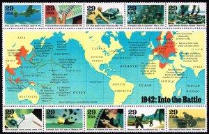 US #2697 World War II Sheet; MNH (2Stars)