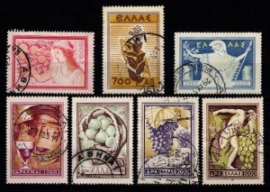 Greece 1953 National Products, Set [Used]