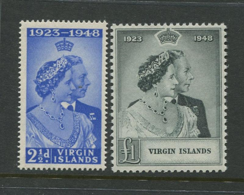 British Virgin Is - Scott 90-91 - Silver Wedding Issue -948-MNH-Set of 2 Stamps