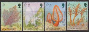 Montserrat SG 951 - 954 set of 4  MLH - Marine Life
