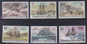 Norfolk Island # 293-298, Sailing Ships - Shipwrecks, NH, 1/2 Cat.