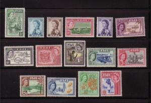 Fiji Sc 147-62 1954 1st QE II long stamp set mint