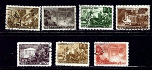 Russia 1172/1173/1175/1176/1178/1179/1181 CTO 1947 issues    (ap1976)