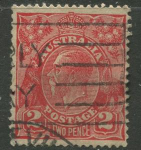 Australia - Scott 116 - KGV Head -1931 - FU - Wmk 228 -  2p Stamp