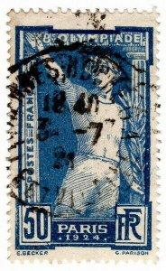 (I.B) France Postal : Olympic Games 50c (1924)