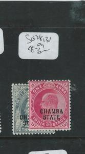 INDIA CHAMBA (P3107B)  KE 1/2A, 1A  SG 28, 31  MOG