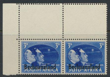 Bechuanaland  SG 131 Lightly Mounted Mint - Corner Pair variety