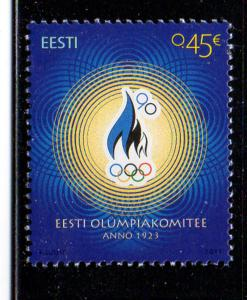 Estonia Sc 746 2013 Olympic Committee stamp mint NH