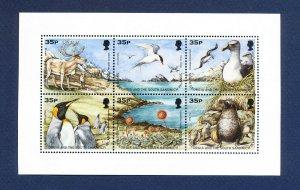 SOUTH GEORGIA - # 219,  SG MS277 - MNH S/S  - Birds - 1998