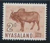 Nyasaland SG 201  SC# 125  MH  Zubu Bull   see details