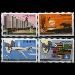 ZIMBABWE 1986 - Scott# 525-8 Development Set of 4 NH