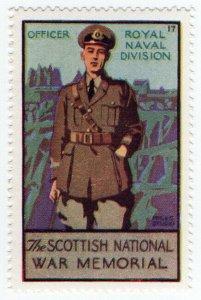 (I.B) Cinderella Collection : The Scottish War Memorial (RN Officer)