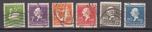 J28151 1935 denmark set used #246-51 fairy tales