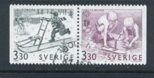 Sweden 1737 - 8 Used Attached Pair (6