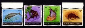 Papua New Guinea 1980 Mammals, Set [Unused]