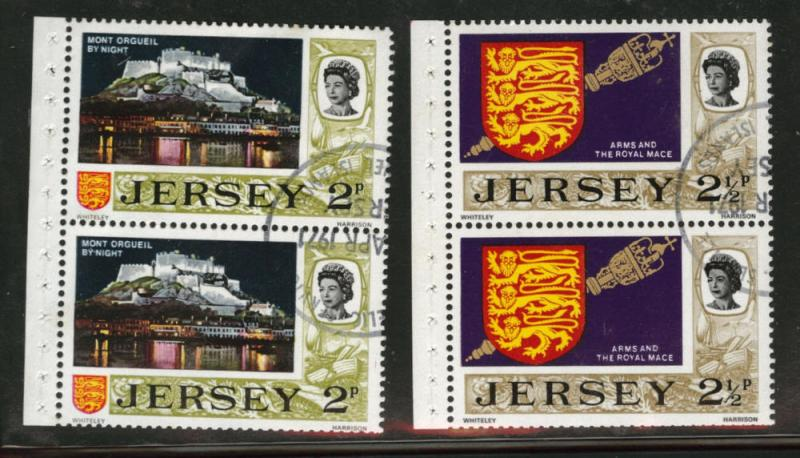 Jersey Scott 37-38b booklet panes of 2 Used CTO 1972