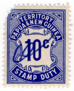 (I.B) Papua New Guinea Revenue : Stamp Duty 10c