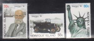 Norfolk Island 382-4 Ameripex 86 Mint NH