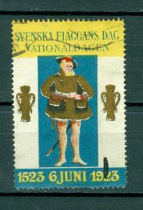 Sweden Poster Stamp 1923. National Day June 6. 1523-1923. Cancel