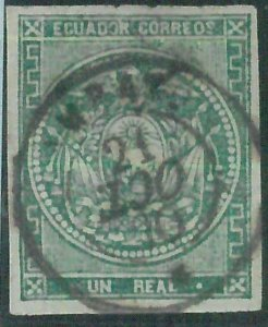 86992g - ECUADOR  - STAMP - USED stamp with AMBATO postmark inverted year\month