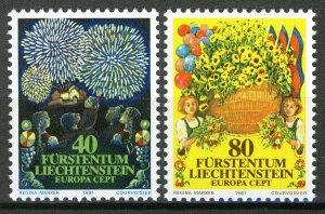 Liechtenstein 1981, Folklore, Europa set VF MNH, Mi 764-65 2,2€