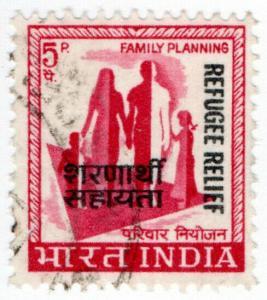 (I.B) India Revenue : Refugee Relief 5p (bi-lingual)