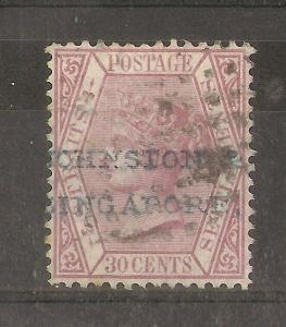 Straits 1872 30c with Inverted Watermark