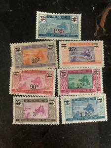 1924 French Mauritania OVPTD definitive Set Sc# 58-64 Stamp Collection Lot MXE