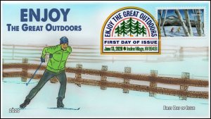 20-113, 2020, Enjoy the Great Outdoors, Digital Color Postmark, FDC, Cross Count