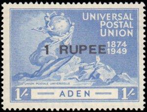 Aden #32-35, Complete Set(4), 1949, UPU, Hinged