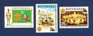 BOTSWANA - # 51-53 - VFMNH - Boy Scouts - 1969