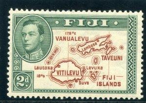 Fiji 1938 KGVI 2d brown & green (p13½ - Die I) MLH. SG 253. Sc 120.