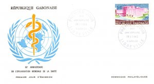 Gabon, Worldwide First Day Cover, Medical
